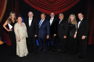 From left to right: Ana Quincoces, Sherry Kaplan Roberts, Dr. Mark B. Rosenberg, Adolfo Henriques, David Wallack, Jimmy Morales, Robin Schwartz Jacobs, and Michael S. Goldberg